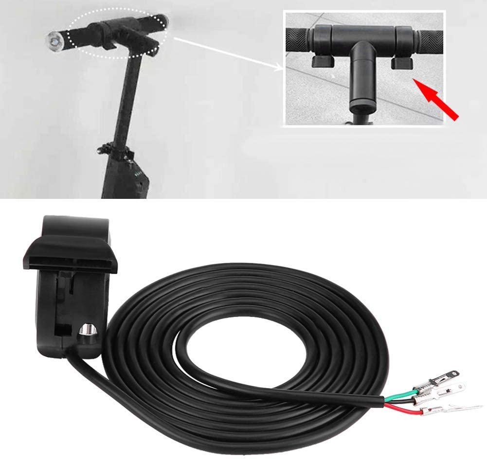 KIMISS 22mm 7//8inch Universal Thumb Throttle Speed Control Assembly E-Bike Electric Bike Scooters 1.6m Wires
