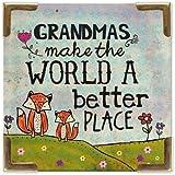 Natural Life MAG154 Corner Magnet Grandmas Make The Wor