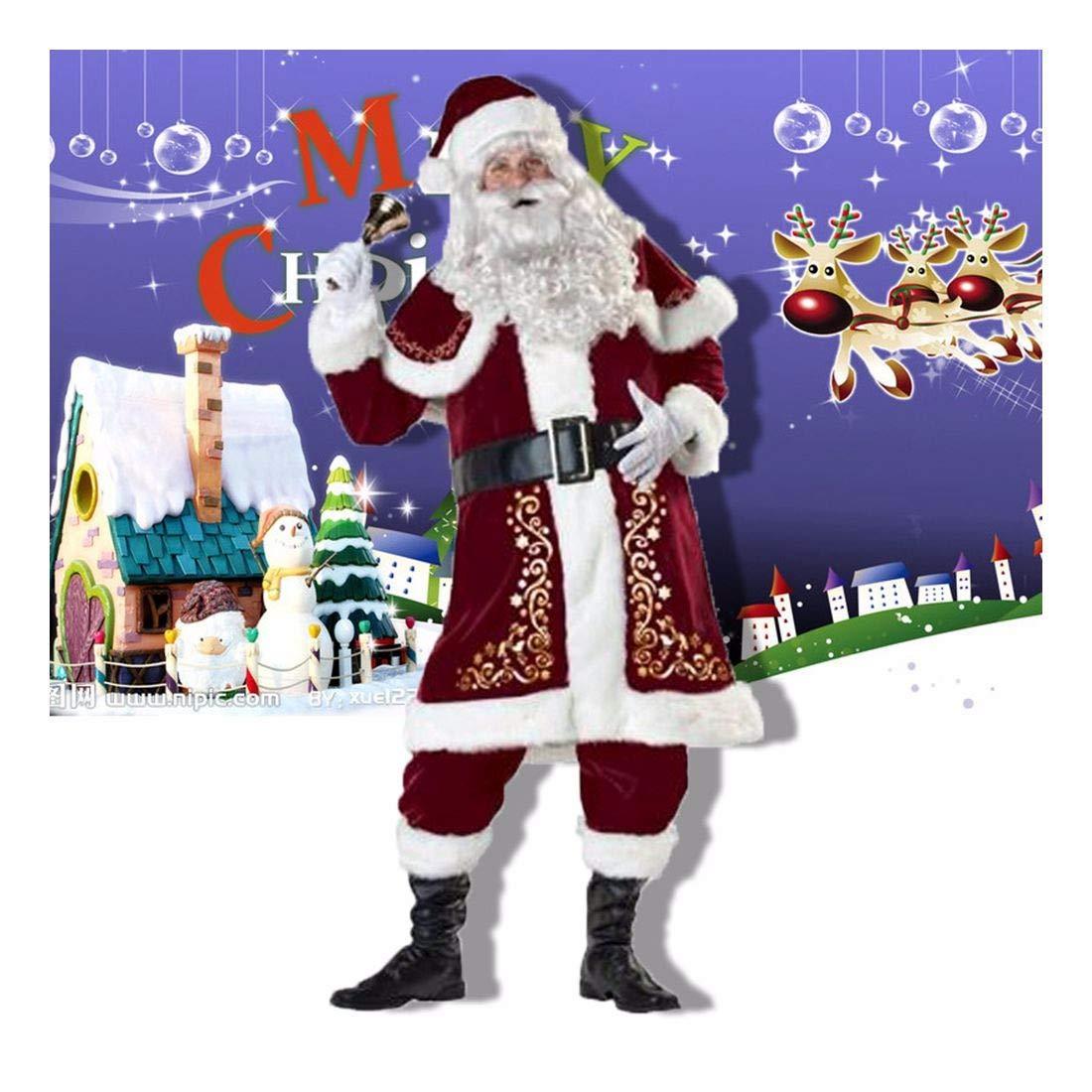 SDLRYF Babbo Natale Vestito Bar Costumi di Natale Uomini E Donne Adulti Babbo Natale Natale Natale Costumi Costumi Europei E Gli Appassionati Americani
