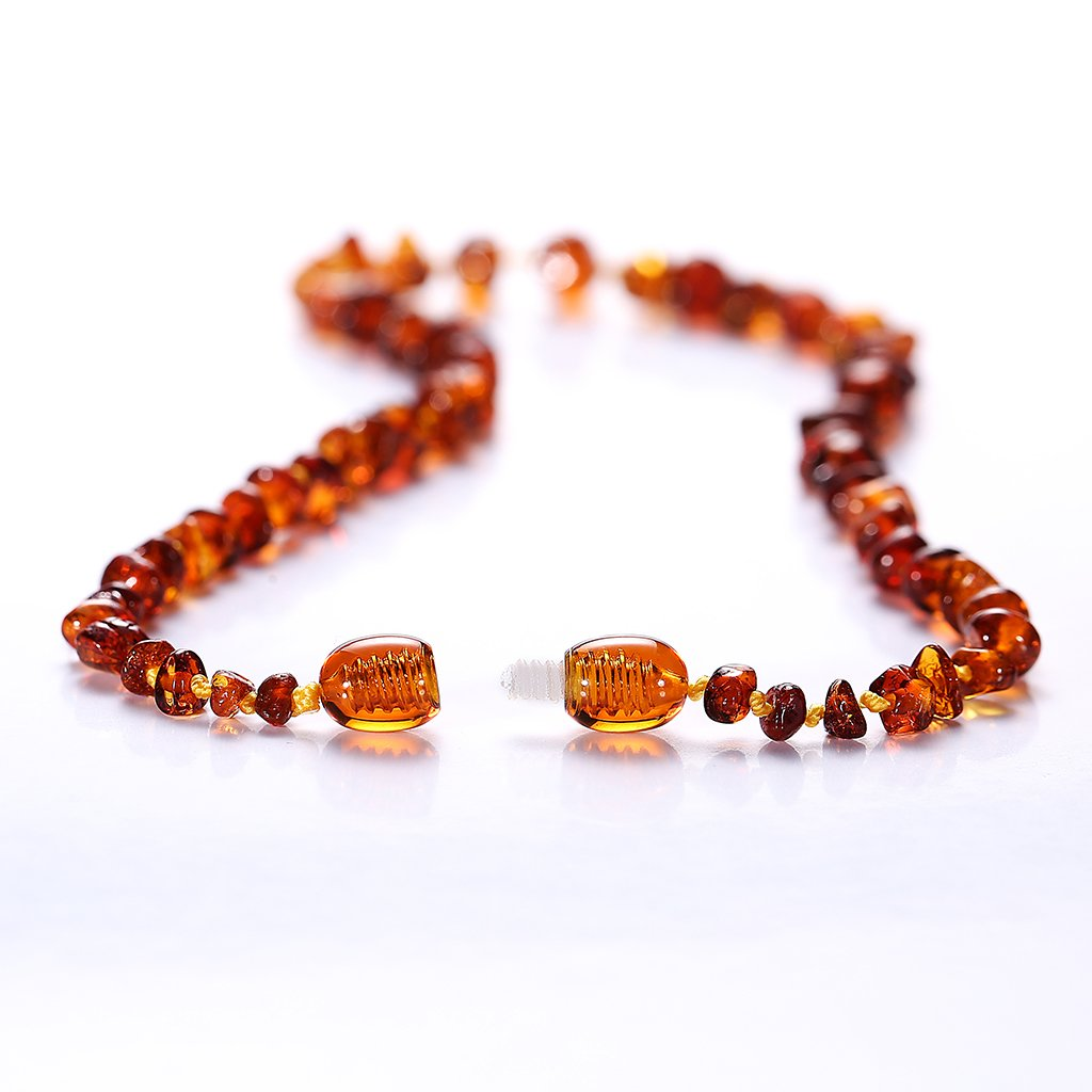 Baltic Amber Necklace Sizes 13 Inches Lab-Tested Cognac Handmade Polished