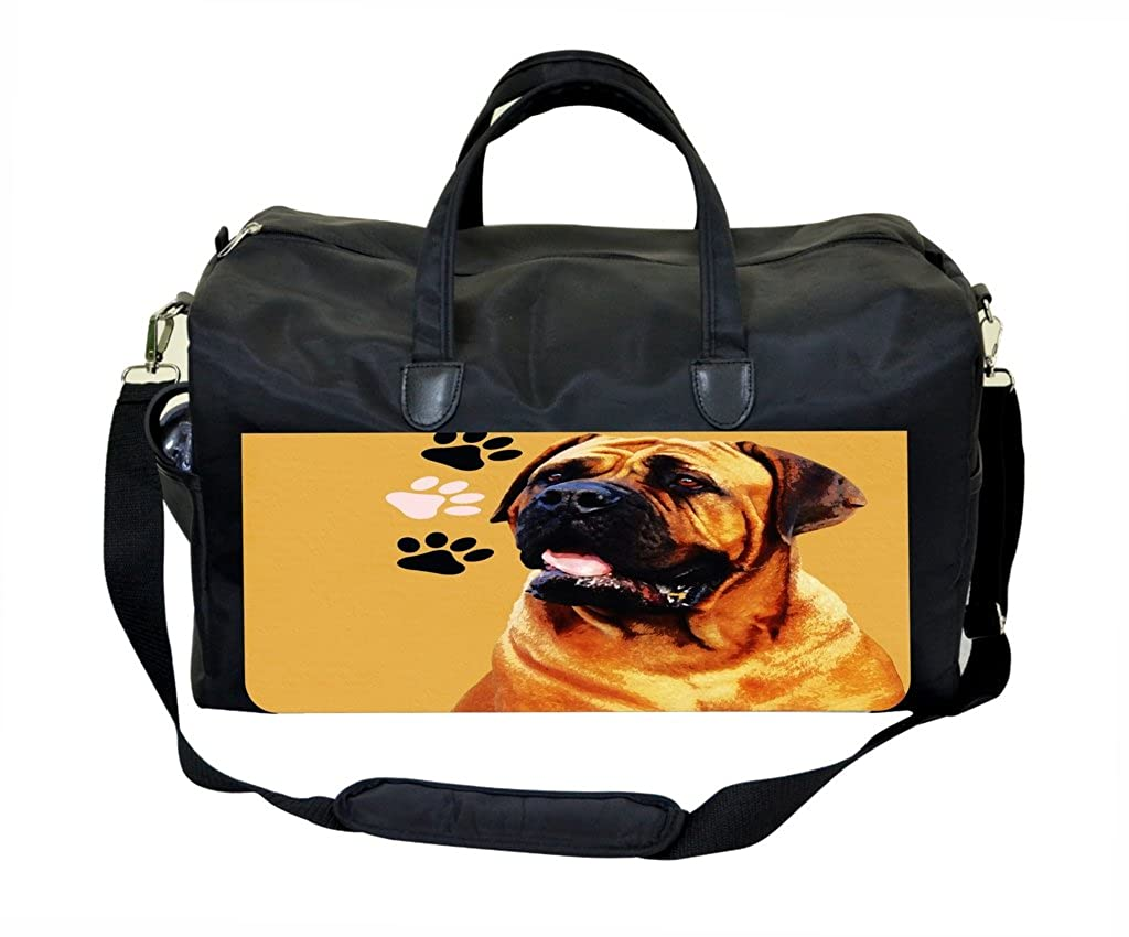 Bordeux Dog and Pawprints PU Leather and Suede Gym Bag