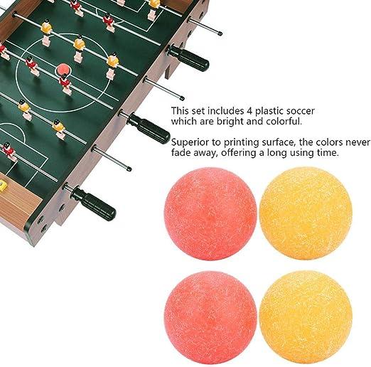 VGEBY1 Pelotas de Futbol de Mesa, combinación combinada de Dos Colores, Superficie Rugosa esmerilada, Mini Mesa de Futbol de Futbol, mm.: Amazon.es: Juguetes y juegos