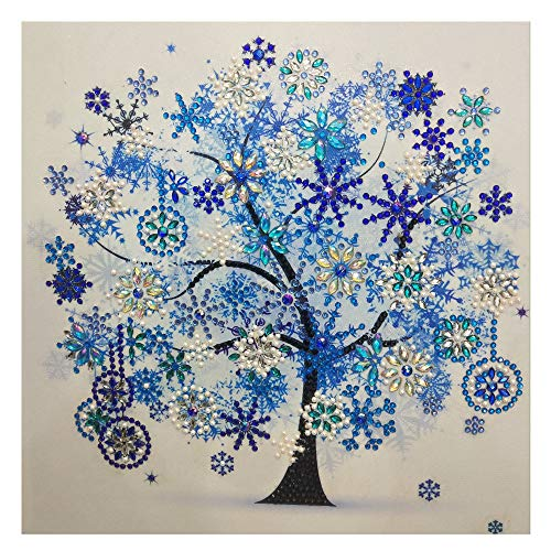 Grip Embroidery - Dressin DIY 5D Diamond Painting by Number Kit for Adult, Embroidery Full Diamond Piture Rhinestones Love Tree