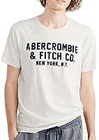 (アバクロンビー & フィッチ) Abercrombie & Fitch Tシャツ 半袖 メンズ アップリケ グラフィック ライトヘザーグレー 2377