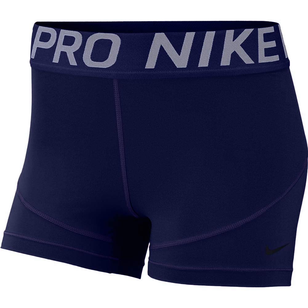 Nike Women's Pro 3'' Short (Blue Void/Black, X-Small) by Nike
