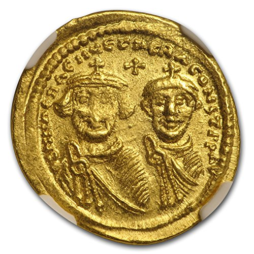 613 IT Byzantine Gold Solidus Emperor Heraclius (613-641 AD) AU NGC Gold About Uncirculated NGC