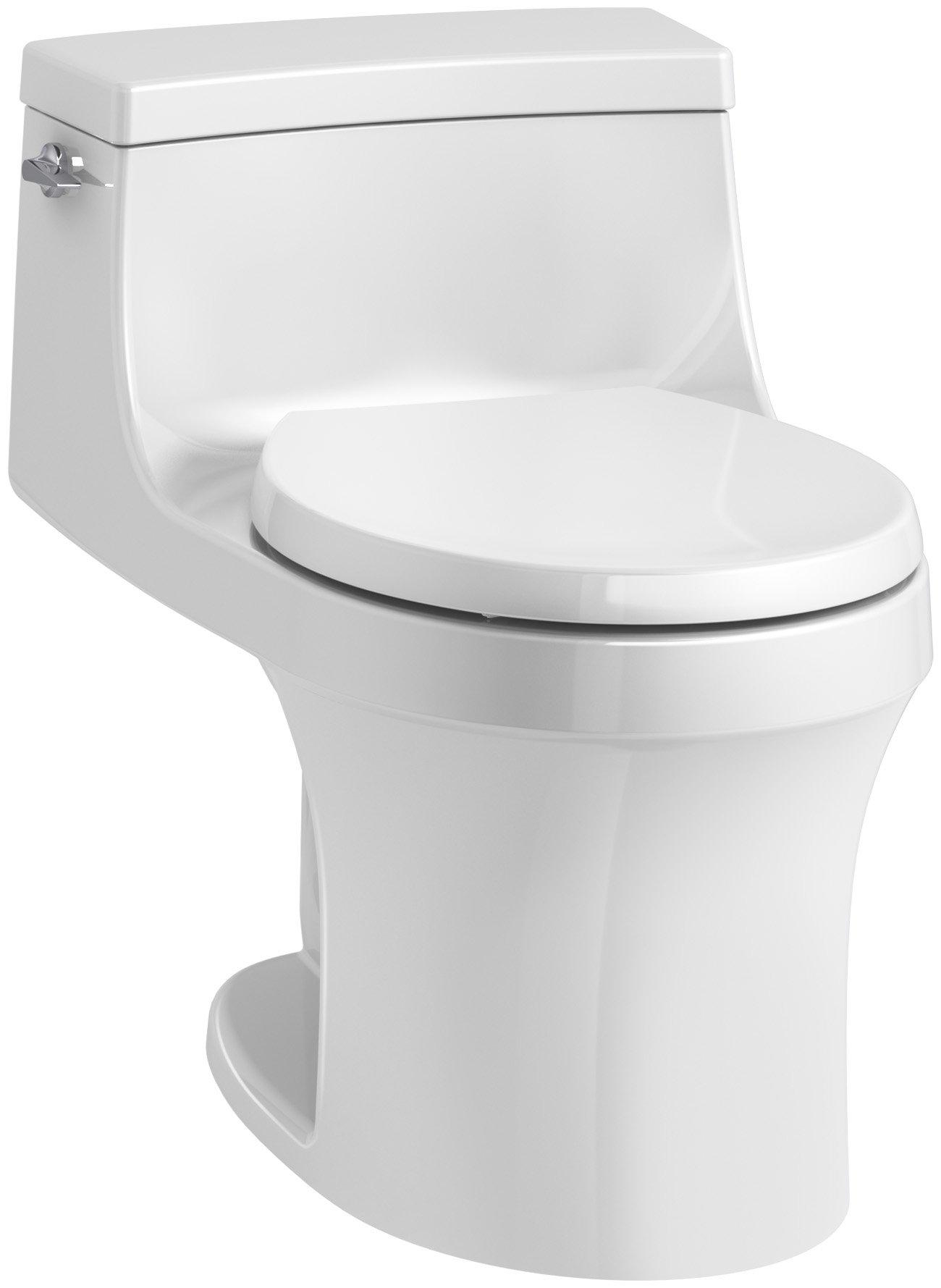 KOHLER K-4007-0 San Souci Toilet, 24.25 x 16.75 x 25.63 inches, White by Kohler