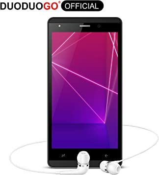 Moviles Libres 4G, DUODUOGO J3 Smartphone Libres 5.0 Pulgadas HD 16GB ROM/Escalable 128GB Smartphone Libre Android 7 Quad Core Telefono Movil 2800mAh Doble Cámara Doble SIM WiFi BT GPS (Negro): Amazon.es: Electrónica
