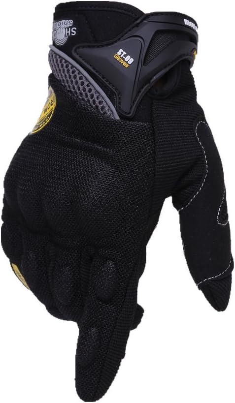 Guantes de Moto Dedo Completo Transpirable Guantes de Moto con Pantalla T/áctil Guantes de Nudillos Verano