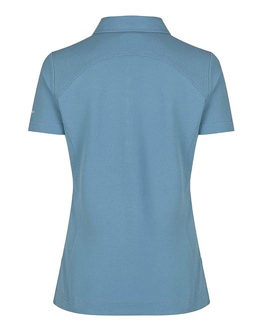 Para mujer hilo de Barbour Polo camisa – azul lml0332bl75: Amazon ...