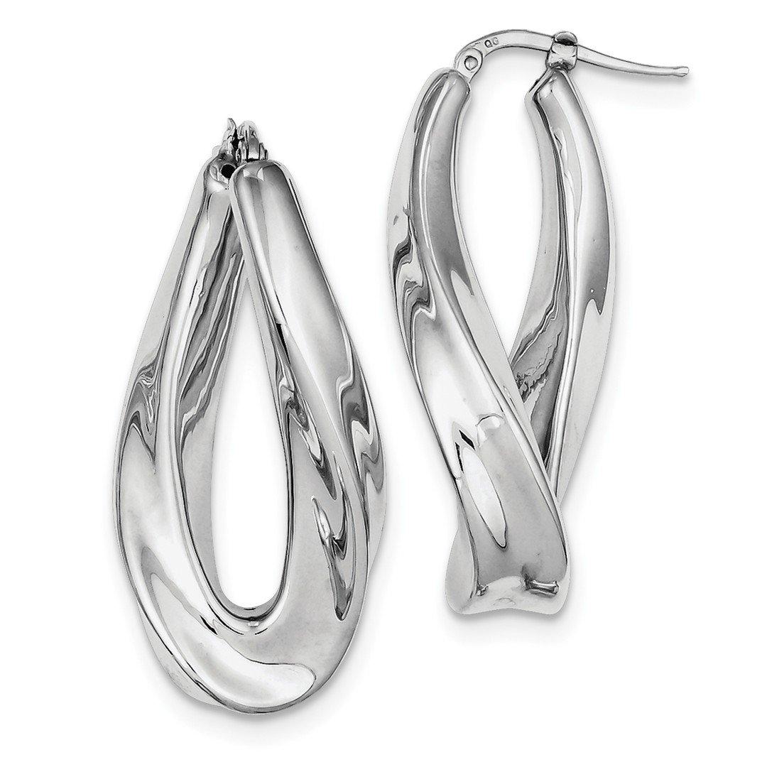 ICE CARATS 925 Sterling Silver Twisted Hoop Earrings Ear Hoops Set Fine Jewelry Gift Set For Women Heart