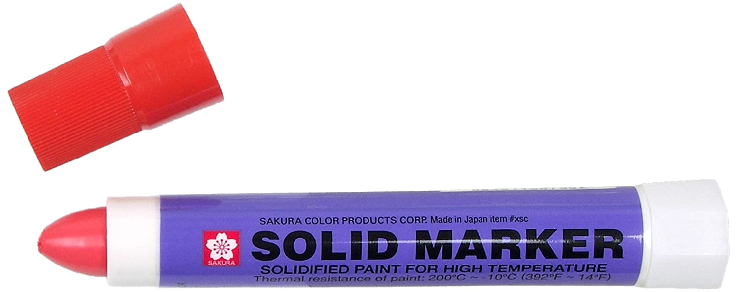 Sakura Solidified Paint Solid Marker, Red (Box of 12) Inc. XSC-19