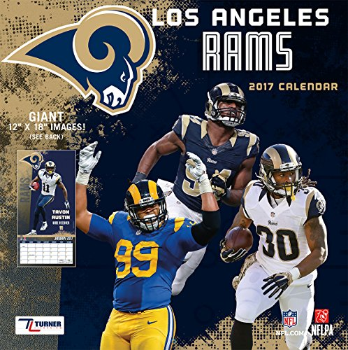 "Turner Licensing Sport 2017 Los Angeles Rams Team Wall Calendar, 12""X12"" (17998012064)"