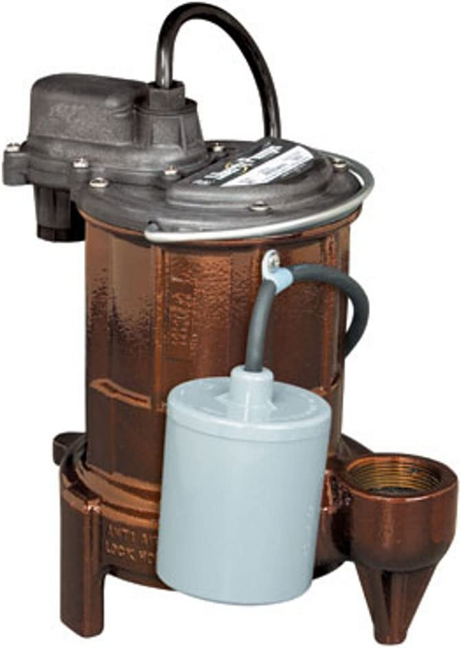 Liberty Pumps 253 1/3-Horse Power 1-1/2-Inch Discharge 250-Series Cast Iron Automatic Submersible Sump/Effluent Pump
