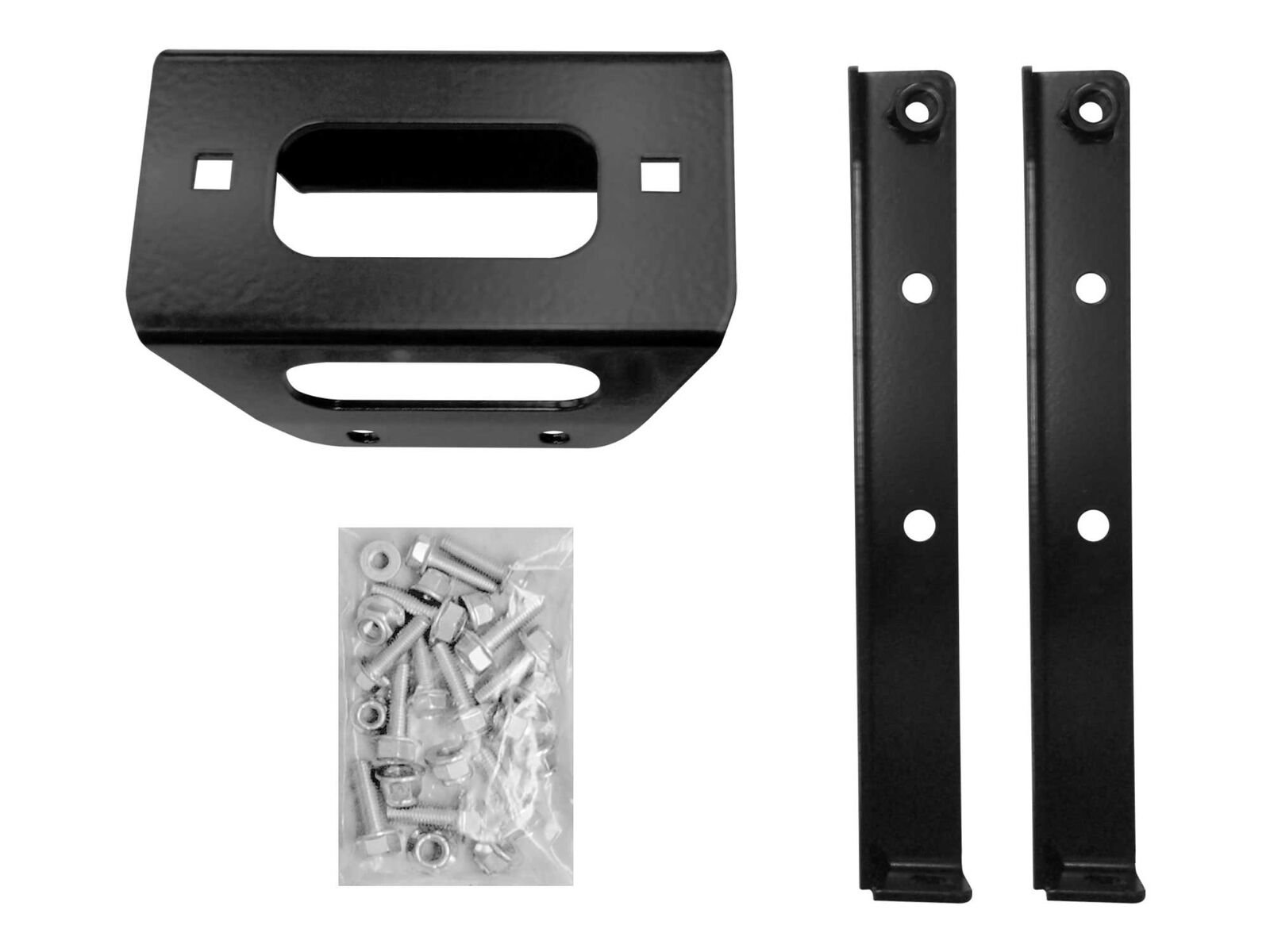 SuperATV Heavy Duty Winch Mounting Plate for Polaris RZR 800/800 S / 4 800 (2008+) - For 4500 & 5000 lb. Winches