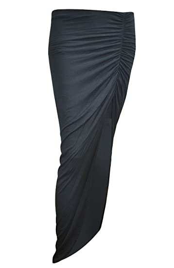 limited style enjoy big discount website for discount WOMEN'S LADIES RUCHED SIDE SPLIT MAXI SKIRT at Amazon ...
