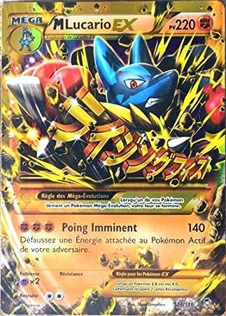 Pokémon - Carta ultrarrara de Mega Lucario EX (113/111, 220 ...
