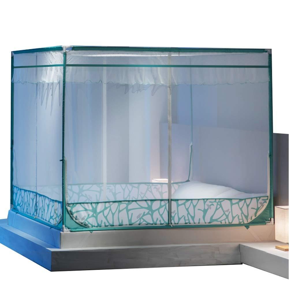 蚊帳 ベッドキャノピー、イージーケアマシン洗える蚊帳、ベッドホームベッドルーム屋外キャンプ用 - グリーン (サイズ さいず : 1.5m (5 feet) bed) B07PBFJ871  1.5m (5 feet) bed