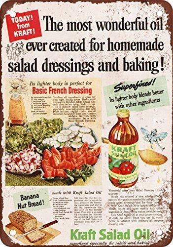 1951 Kraft Salad Oil Vintage Look Reproduction Metal Tin Sign 12X18 (Doris Salad)