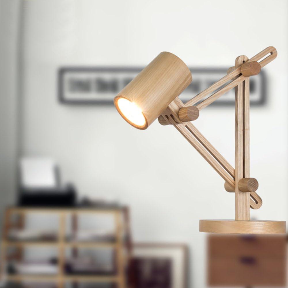 Lampe De Table En Bois Art Nordique Creative Homme En Bois