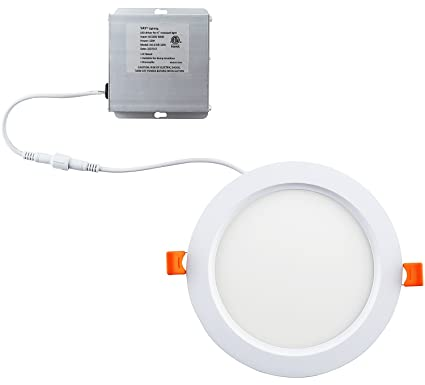 yay led 6'' ultra-thin recessed ceiling light with junction box, dimmable