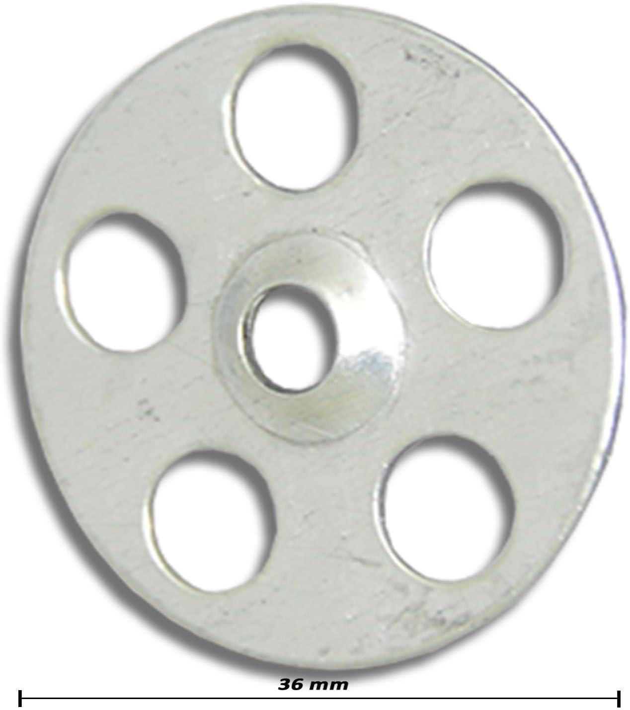 Plasterboard 65mm Screws 35mm Metal Insulation Discs Tile Backer Fixing Washer