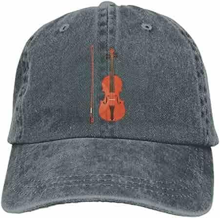 6e3169cea9 Violin Music Red Denim Hat Adjustable Women s Curved Baseball Hats