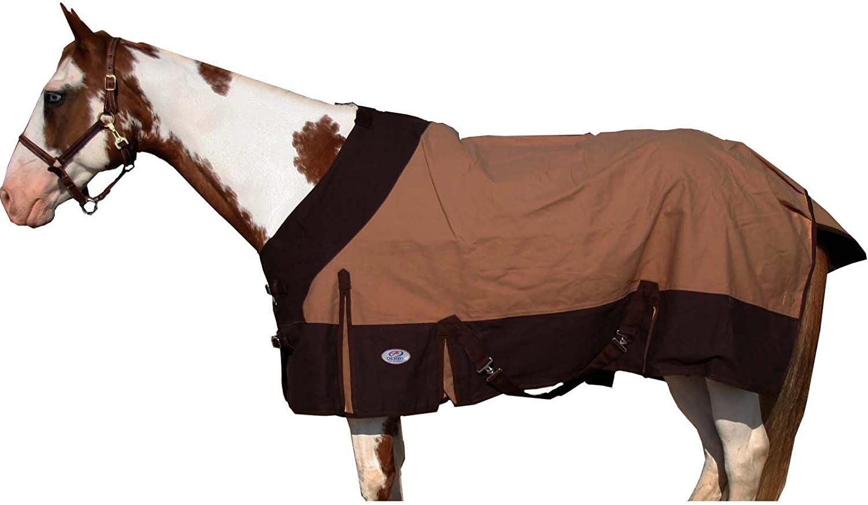 "78/"" Canvas Duck Stable Horse Winter Blanket 100 gsm Polyfil Burgundy"