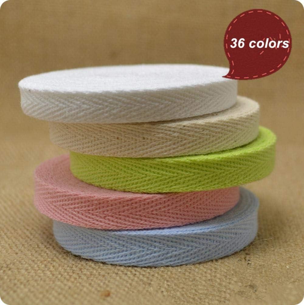 Tusin 100yardas/lote 3/8 10mm color espiga / cinta de algodón de sarga / Cinta de algodón/cinta de encuadernación al bies: Amazon.es: Hogar