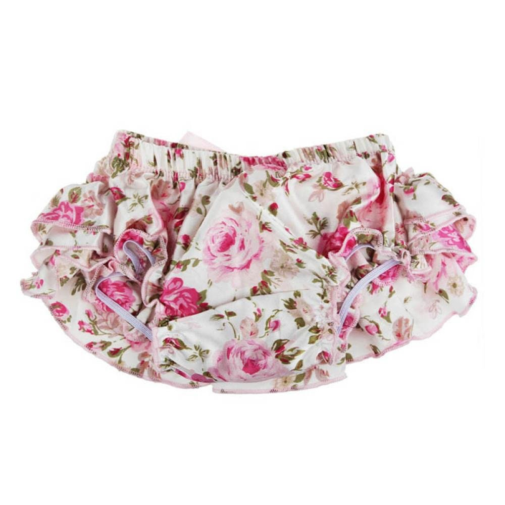 Tonsee® Baby Ruffle Bloomers Layers Diaper Cover Flower Shorts Skirts Summer (L, Pink) Tonsee®-4654561