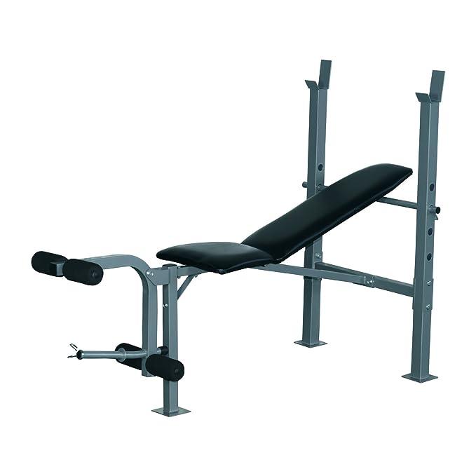 Homcom 32 – Estación / banco de musculación para entrenamiento completo, respaldo ajustable, soporte de pesa en acero negro: Amazon.es: Deportes y aire ...