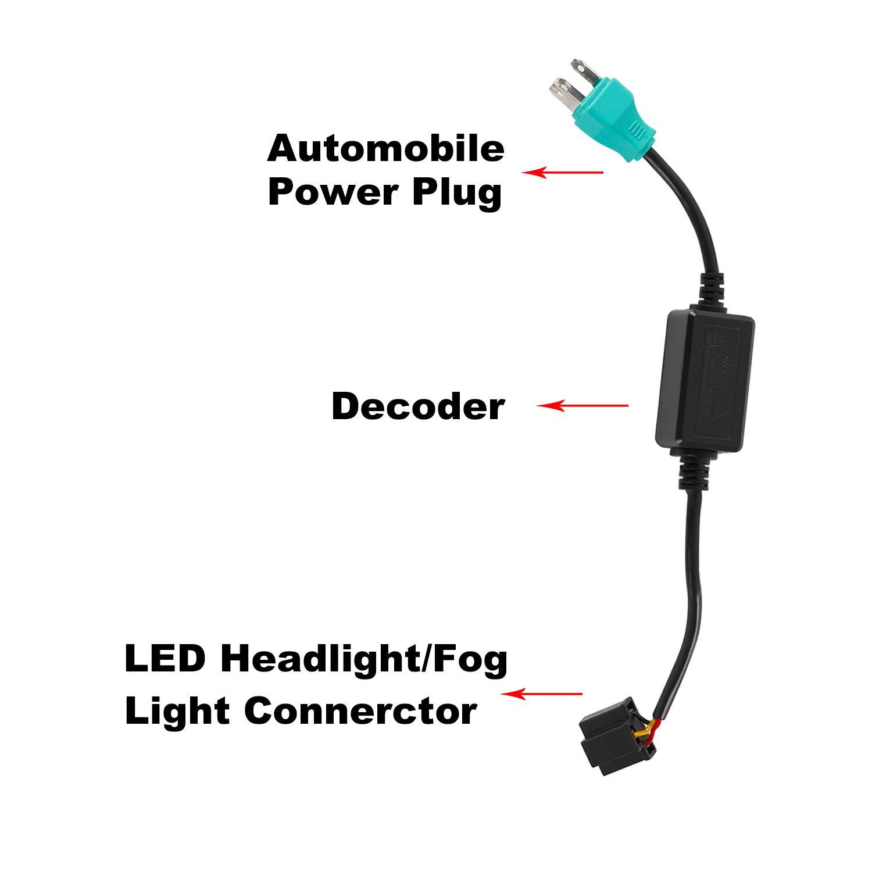 AAIWA 7 Round LED Headlights 60W LED Headlight with DRL Turn Signal Amber Light for Jeep Wrangler 1997-2017 JK TJ LJ