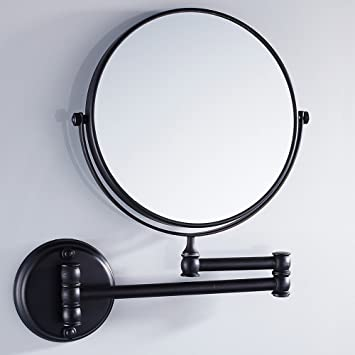 Velimax 8 Inch Solid Brass Bathroom Vanity Mirror Folding Wall Mounted Makeup Double Side