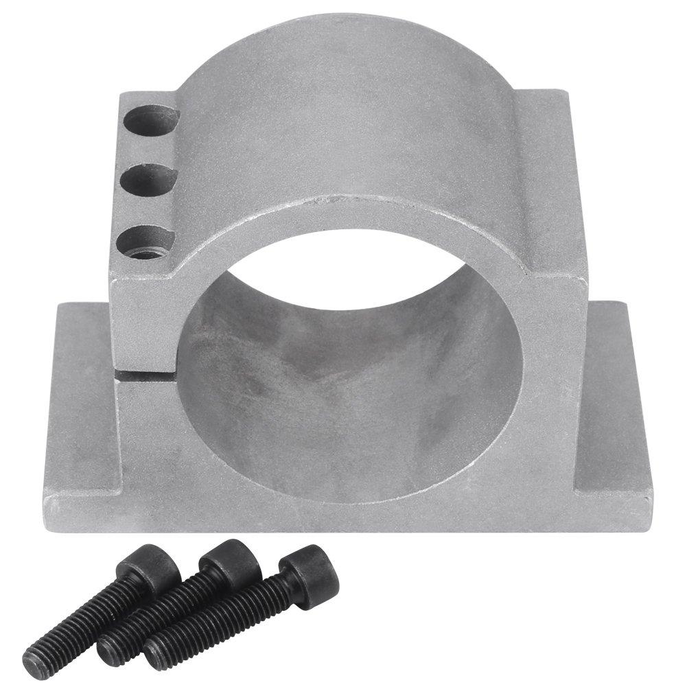 80 / 100mm Aluminium CNC Spindelmotor Halterung Klammer mit Schrauben, Walfront Spindel Werkzeugsatz fü r 3D Druck CNC Gravur Millng Maschine(80mm)