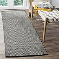 Safavieh Montauk Collection MTK345D Ivory and Black Runner (23 x 6)