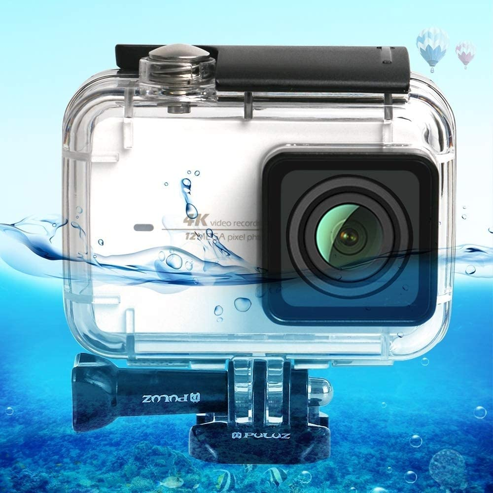 Linxiucen Nuevo 45m bajo el Agua Cubierta Impermeable de Buceo Caso for Xiaomi cámara 4K Xiaoyi II Acción, con la Hebilla de Montaje básico y Tornillo