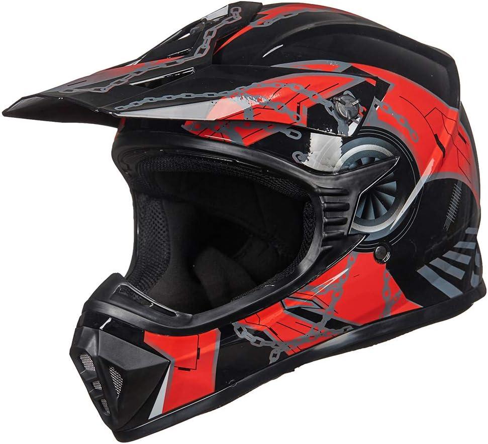 BLUE BLACK, Adult-XL ILM Adult Youth Kids ATV Motocross Dirt Bike Motorcycle BMX MX Downhill Off-Road Helmet DOT Approved
