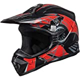 ILM Adult Youth Kids ATV Motocross Dirt Bike Motorcycle BMX MX Downhill Off-Road Helmet DOT Approved (RED Black