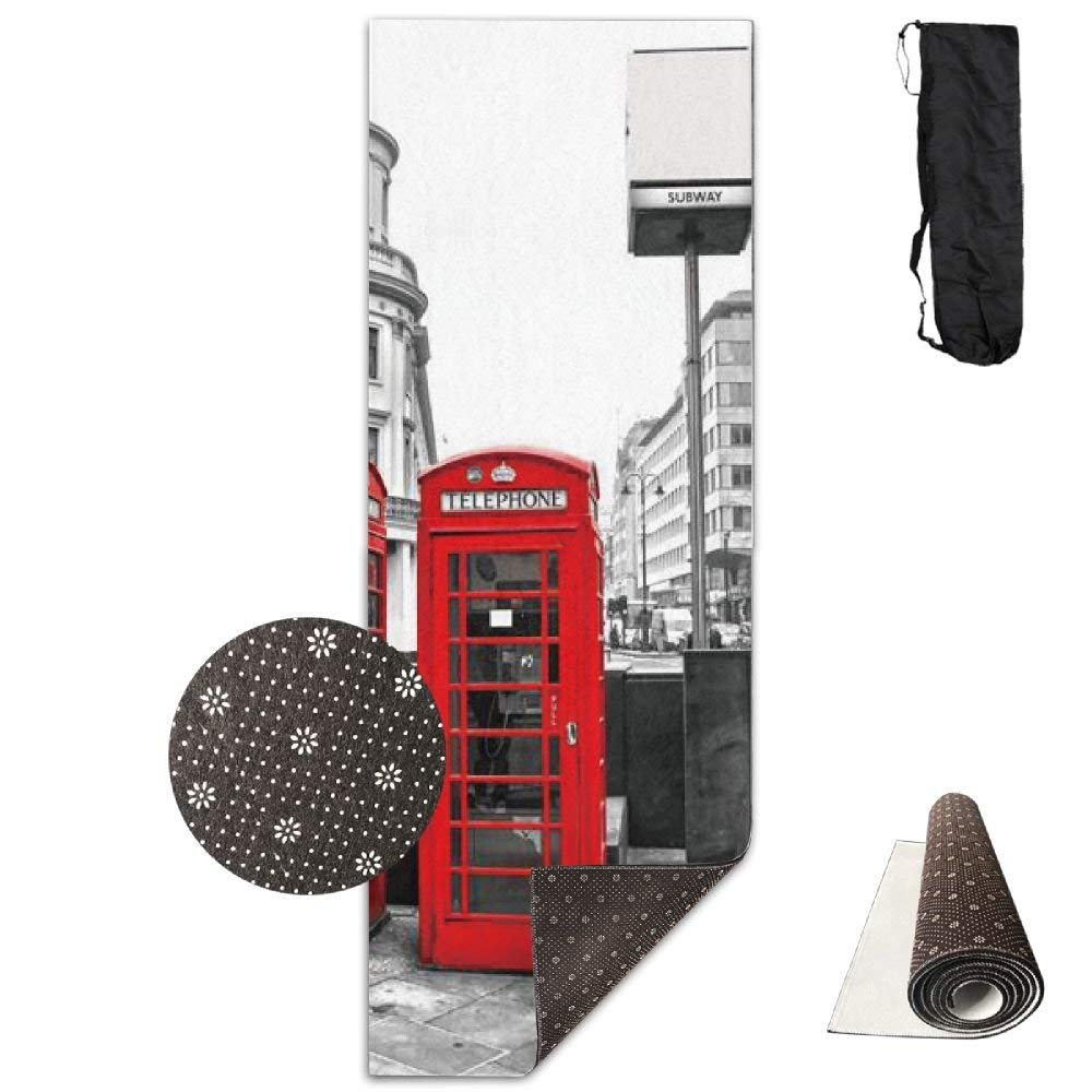 London Red Booth Deluxe Yoga Mat Aerobic Exercise Pilates