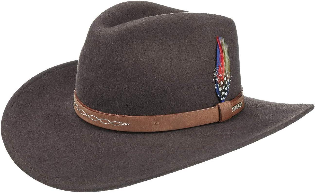 Stetson Sombrero de Fieltro Dolamo Western Hombre - Vaquero con Banda Piel otoño/Invierno