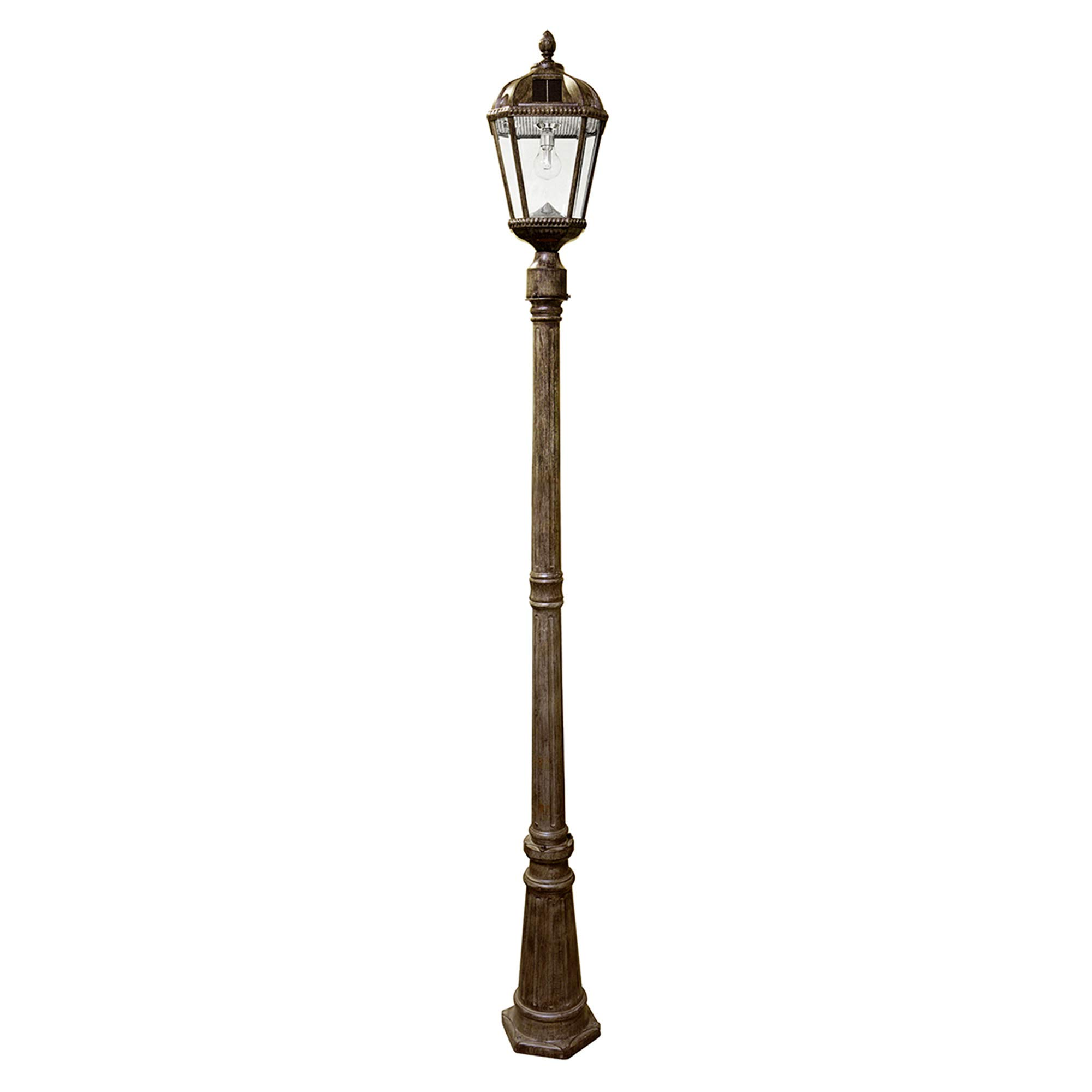 Gama Sonic GS-98B-S-WB Royal Bulb Lamp Post Outdoor Solar Light Fixture and Pole