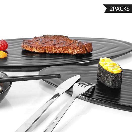 Platos de aperitivos, juego de 2, 100% melamina, duradero ...