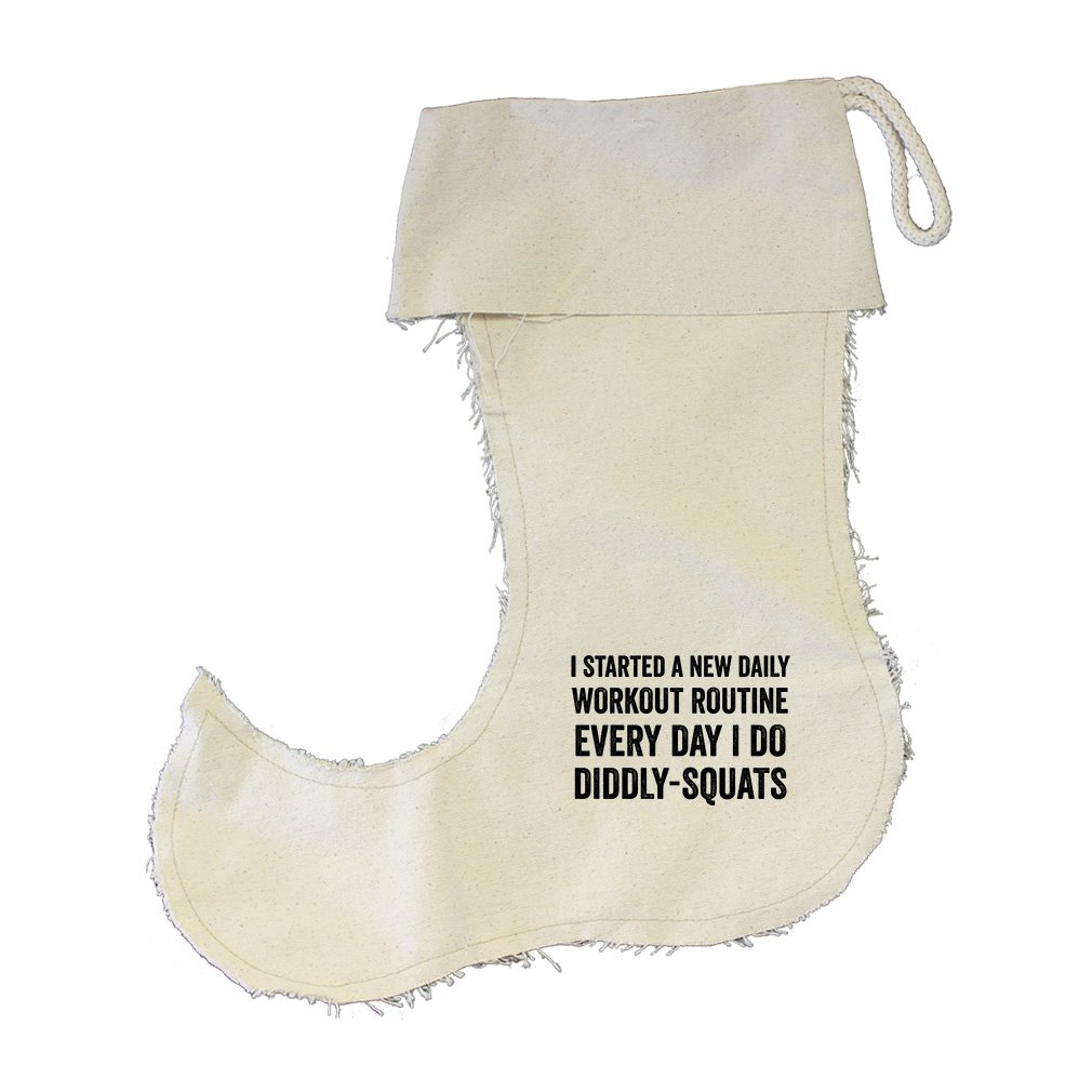 A Routine Every Day I Do DiddlySquats Cotton Canvas Stocking Jester - Small by Style in Print