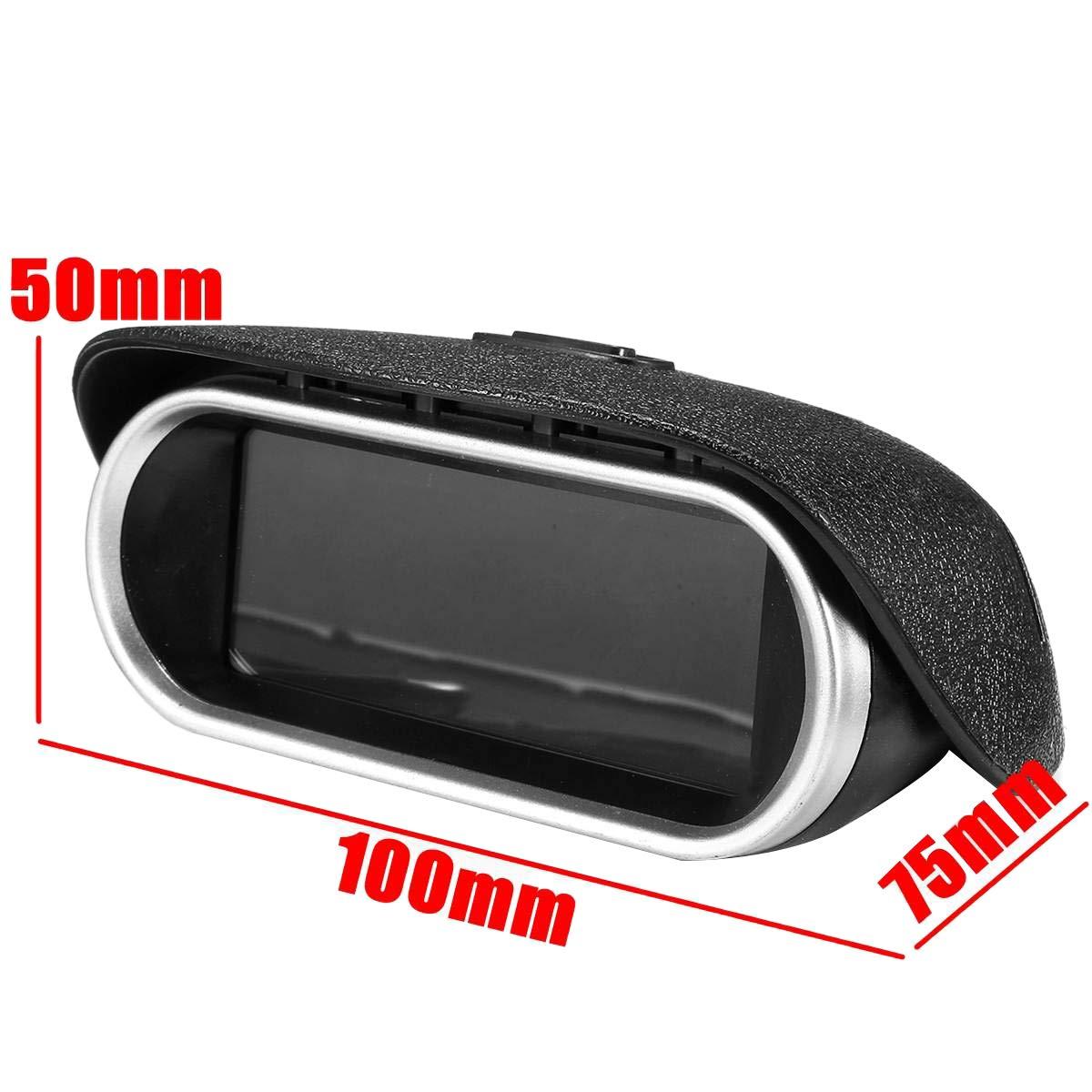 TOOGOO Auto Universal 50-9999 RPM Drehzahlmesser LCD Digital Anzeige Motor Drehzahlmesser Boot LKW LCD Bildschirm Drehzahlmesser