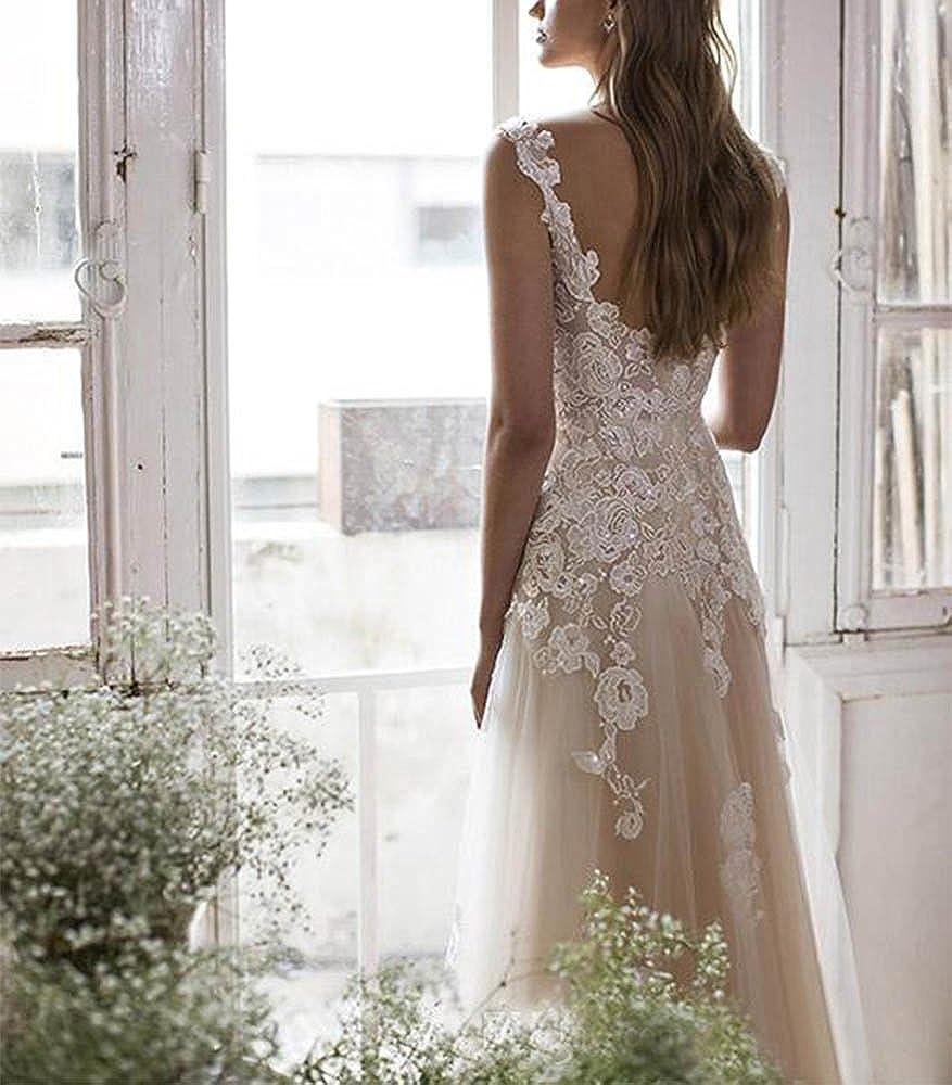 Vintage Lace Wedding Dresses for Bride 2017 Bridal Gowns Vestidos de Novia 2017 at Amazon Womens Clothing store: