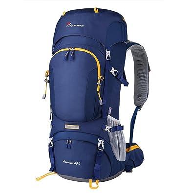 e09238fda386 Mountaintop 50L/60L 登山リュック ハイキング バックパック バッグ 大容量 レインカバー付き 撥