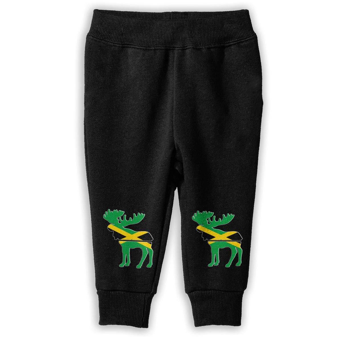 NJKM5MJ Moose Jamaica Flag Sweatpants Baby Boys Athletic Pants
