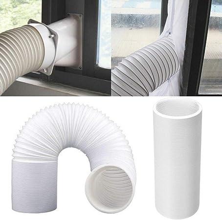 Tuyau dEvacuation Flexible PVC Tube de Ventilation Universel Tuyau Kit pour Climatiseur Mobile Womdee Climatiseur Mobile Tuyau
