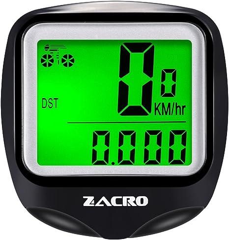 Zacro Ordenador Wireless Velocimetro de Bicicleta con Luz Defondo ...