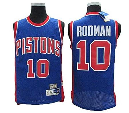 TTHU Camisetas De Baloncesto para Hombre - Pistones 10# Rodman ...